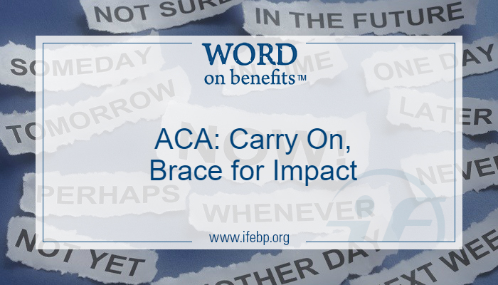 ACA: Carry On, Brace for Impact