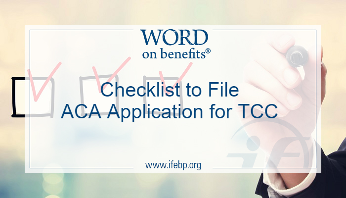 Checklist to File ACA Application for TCC