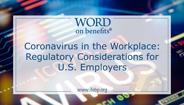 CoronavirusRegulatory Considerations for Employers