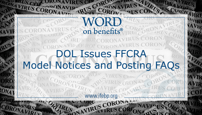 DOL Issues FFCRA Model Notices and Posting FAQs