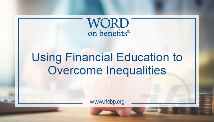 Using Financial Education to Overcome Inequalities