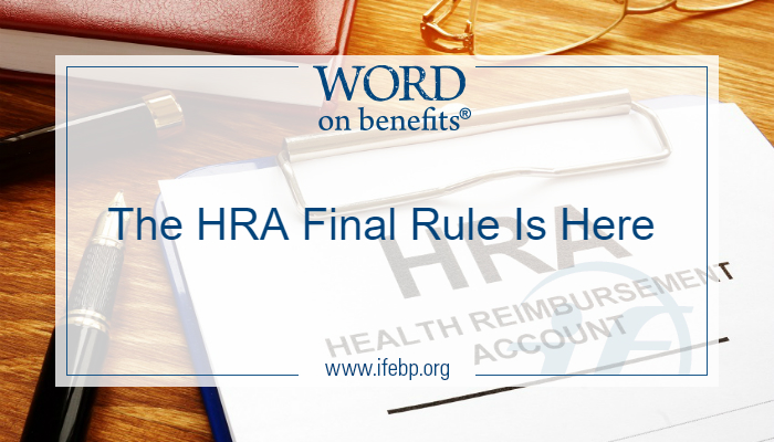 The HRA Final Rule Is Here
