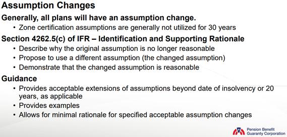 Assumption Changes