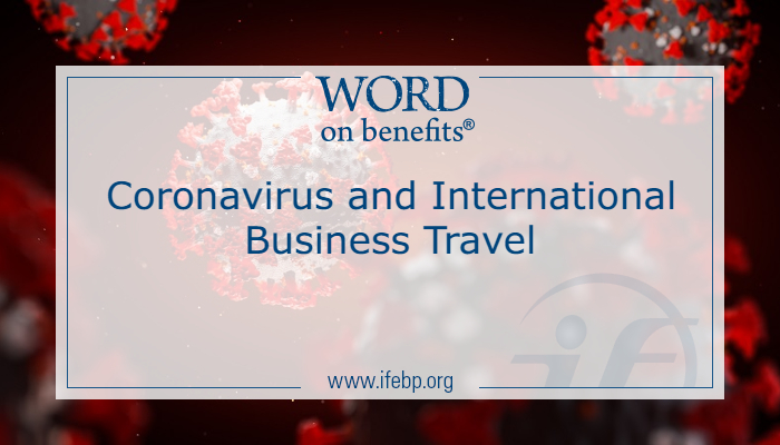 Coronavirus and International Business Travel