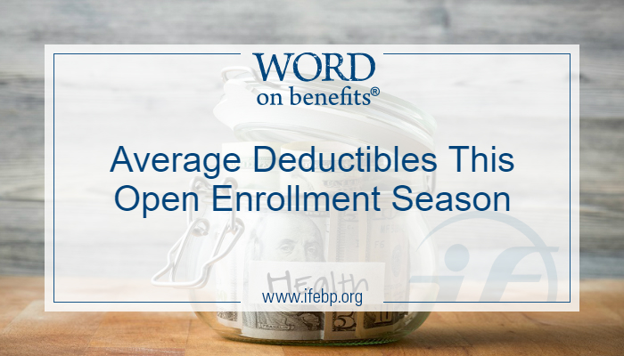 Average Deductibles This Open Enrollment Season