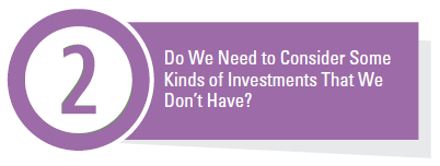 Do We Need to Consider Some Kinds of Investments That We Don't Have?