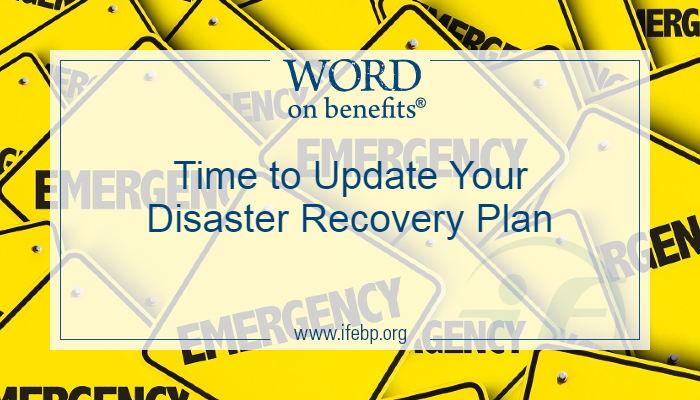 Time to Update Your Disaster Recovery Plan
