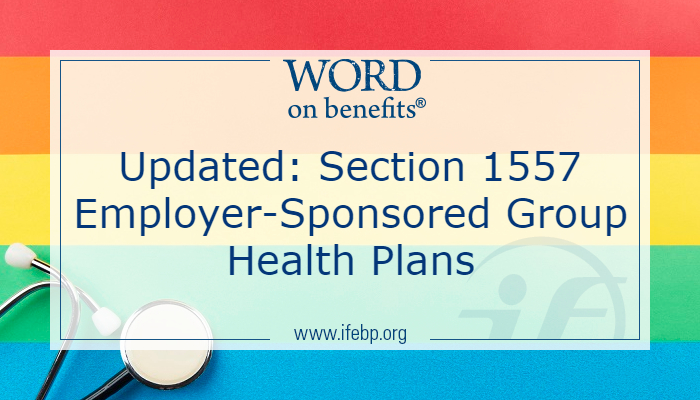 Updated: Section 1557 Employer-Sponsored Group Health Plans
