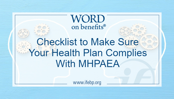 Checklist to Make Sure Your Health Plan Complies With MHPAEA