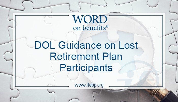 DOL Guidance on Lost Retirement Plan Participants