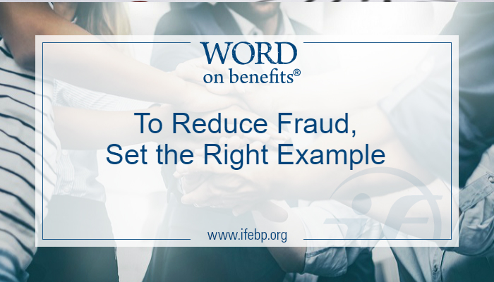 To Reduce Fraud, Set the Right Example