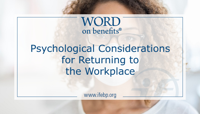 Psychological Considerations for Returning to the Workplace
